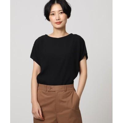 【アンタイトル】 ノーブルキュプラコンビネーションTシャツ レディース ブラック 02(M) UNTITLED