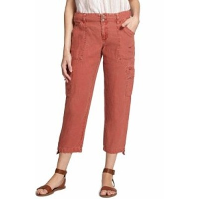 Sanctuary サンクチュアリ ファッション パンツ Sanctuary NEW Red Terracotta Womens Size 32X25 Capris Cropped Linen Pants #482