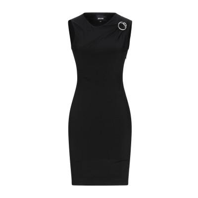 ジャストカヴァリ JUST CAVALLI ミニワンピース&ドレス ブラック 38 レーヨン 95% / ポリウレタン 5% ミニワンピース&ドレス