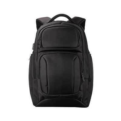 Laptop Backpack Business Travel 15.7inch Laptop Backpack with USB Charging Port, College School Computer Bag for Women and Men,Black【並