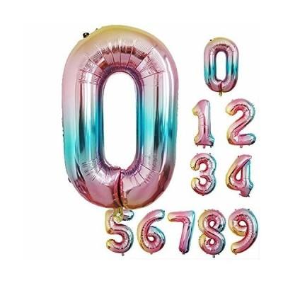 Ryohan 数字 バルーン 誕生日 飾り付け 虹色 風船 パーティー デコレーション 32インチ 結婚式 記念日 子供用 大