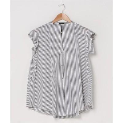 シャツ ブラウス ノースリーブコットンシャツ