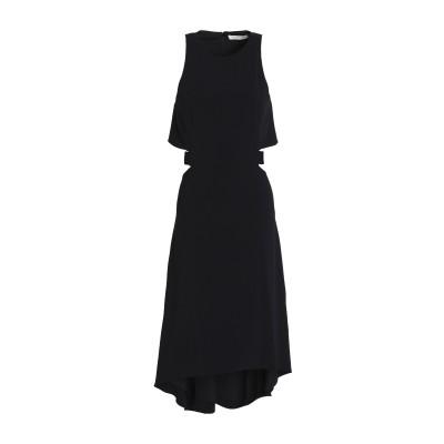 ホルストン・ヘリテージ HALSTON 7分丈ワンピース・ドレス ブラック 8 ポリエステル 95% / ポリウレタン 5% 7分丈ワンピース・ドレス