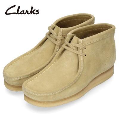 クラークス ワラビー ブーツ メンズ Clarks Wallabee Boot 980E メープル スエード ベージュ 本革 セール