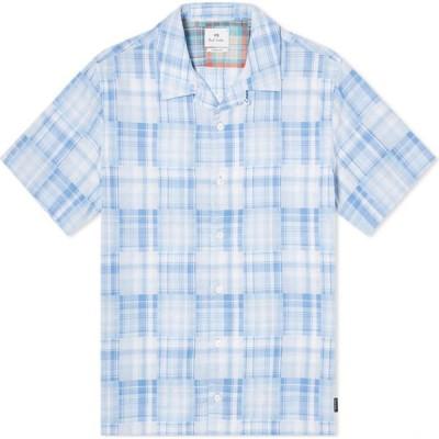 ポールスミス Paul Smith メンズ 半袖シャツ トップス patchwork check vacation shirt Multi
