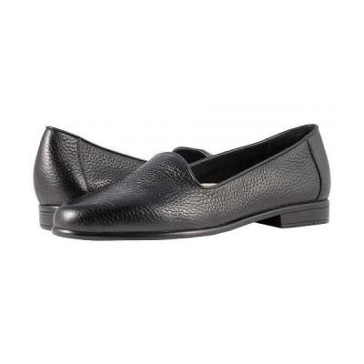 Trotters トロッターズ レディース 女性用 シューズ 靴 ローファー ボートシューズ Liz Tumbled - Black Very Soft Leather