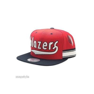 帽子 ハット キャップ ミッチェル&ネス NBA Mitchell & Ness スナップバック Portland Trailblazers レッド Team ショート 2 トーン ハット