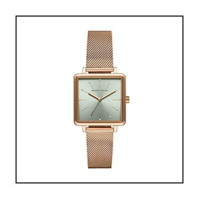 Armani Exchange Women's Quartz Watch with Stainless Steel Strap, Rose Gold, 16 (Model: AX5806)