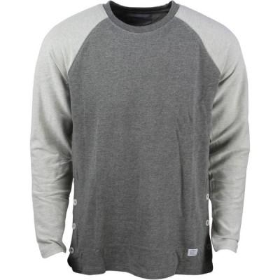 アコンプライス Akomplice メンズ 長袖Tシャツ トップス Button Rag Crew Tee gray