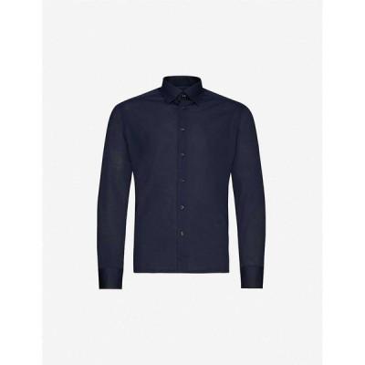 イートン ETON メンズ ポロシャツ トップス Slim-fit cotton-pique polo top Blue