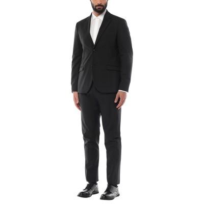 OFFICINA 36 スーツ ブラック 54 ポリエステル 59% / バージンウール 22% / レーヨン 17% / ポリウレタン 2% スーツ