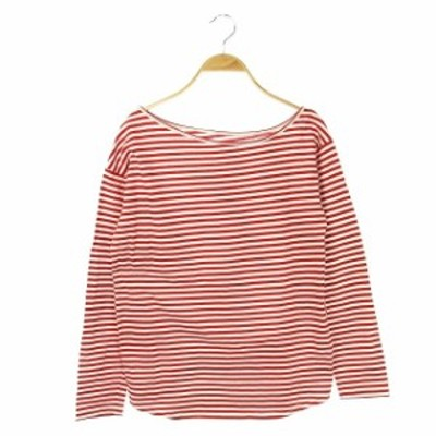 【中古】スローブシトロン SLOBE citron 19SS Tシャツ カットソー カラーボーダー 長袖 赤 白 /AO ■OS ▲H