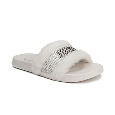 ジューシークチュール サンダル シューズ レディース Women's Steady Faux Fur Sandal Slide White
