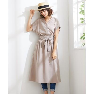 1枚でサマになるスキッパーシャツワンピース (ワンピース)Dress