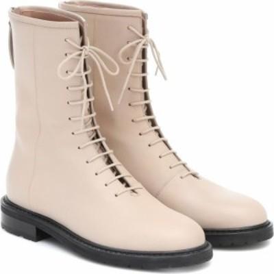レグレス Legres レディース ブーツ コンバットブーツ シューズ・靴 leather combat boots Dirty Nude
