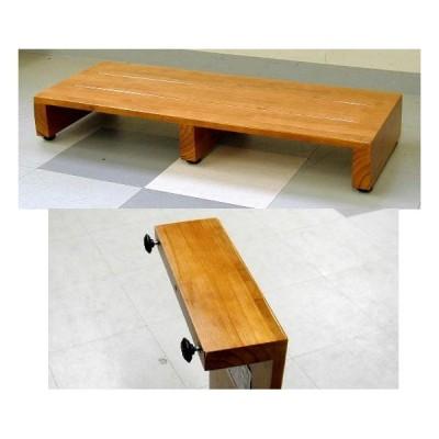 木製の玄関踏み台 90センチ幅 7.2kg(ゲンカン フミダイ No935)