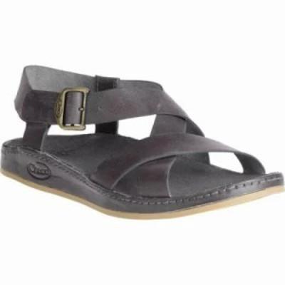 チャコ サンダル・ミュール Wayfarer Leather Sandal Grey Full Grain Leather