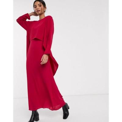 ベローナ マキシドレス レディース Verona maxi dress with draped layer エイソス ASOS