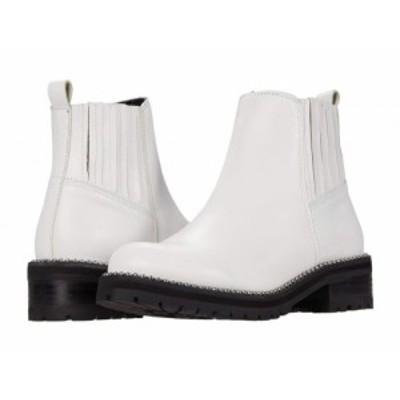 Steve Madden スティーブマデン レディース 女性用 シューズ 靴 ブーツ アンクル ショートブーツ Gale Bootie White Leather【送料無料】