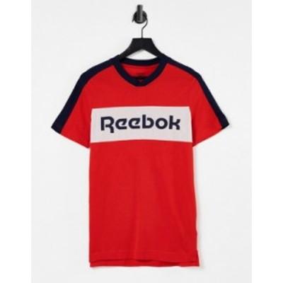 リーボック メンズ シャツ トップス Reebok short sleeve graphic tshirt in red Red