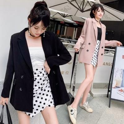 レディース ジャケットブレザー   ロングコート トップス 事務服 シンプル カジュアル 宴会