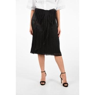 MAISON MARGIELA/メゾン マルジェラ Black レディース MM0 Silk Accordion Skirt with Inner Petticoat dk
