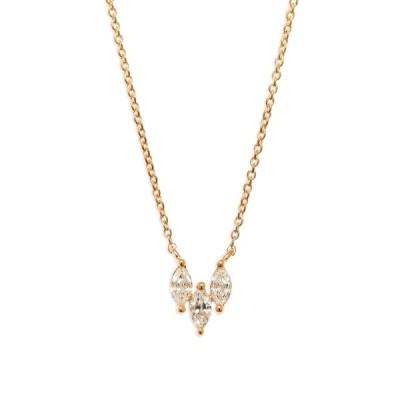 ダナレベッカデザイン ネックレス・チョーカー・ペンダントトップ アクセサリー レディース Alexa Jordyn Marquise Trio Diamond Necklace Yellow Gold
