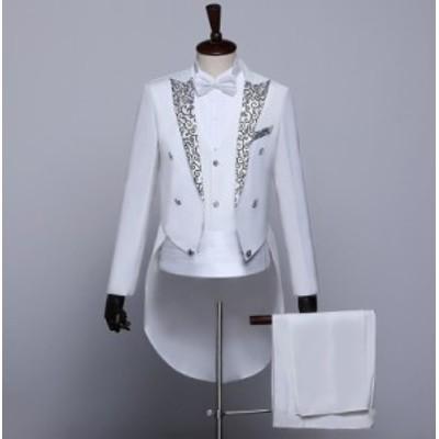 送料無料 3色/メンズ 5点セット パンツ コート スーツ セット長袖トップス 事務服紳士 結婚式 忘年会 司会者 入学 ジャケット