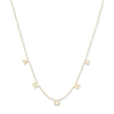 """メイシーズ Macy's ユニセックス ネックレス ジュエリー・アクセサリー AMORE Letter 18"""" Statement Necklace in 10k Gold Gold"""