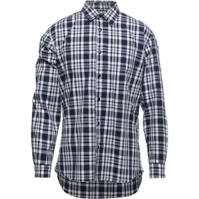 イウター IUTER メンズ シャツ トップス Checked Shirt Dark blue