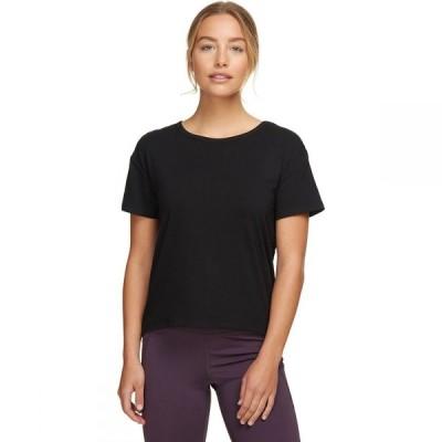 ストイック Stoic レディース Tシャツ トップス Open Back T-Shirt Black