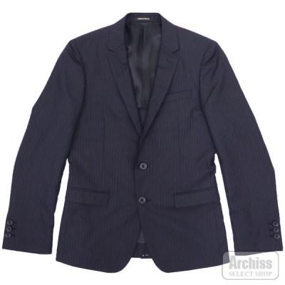 ニコル NICOLE HIDEAWAYS ジャケット 濃紺 オルタネイト ストライプ 背抜き 2ボタン 46サイズ メンズ 2165-2532-67 S42524