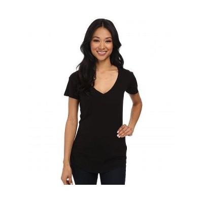 LAmade エルエーメイド レディース 女性用 ファッション Tシャツ V-Pocket Tee - Tissue Jersey - Black