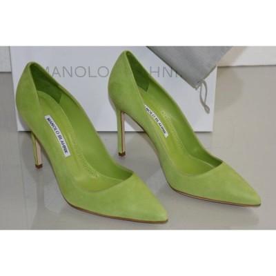 ハイヒール マノロブラニク Manolo Blahnik BB 105 Green Suede Shoes Pumps  36.5 37.5 38.5 40.5 41.5