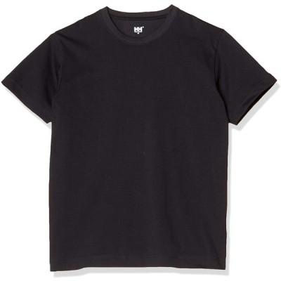 [ヘリーハンセン] Tシャツ ショートスリーブロゴティー メンズ ブラック XL
