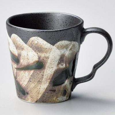 業務用食器 織部あそびクラフトマグカップ φ8.2×8.6cm(240�)