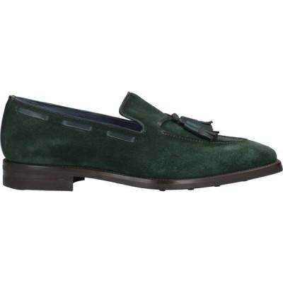 サンピエレ ZAMPIERE メンズ ローファー シューズ・靴 loafers Dark green