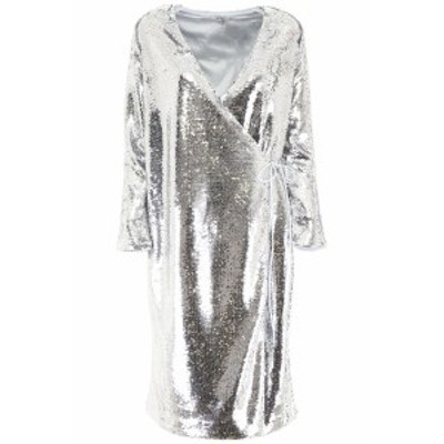 GANNI/ガニー ドレス SILVER Ganni sequins dress レディース 春夏2019 F3085 ik