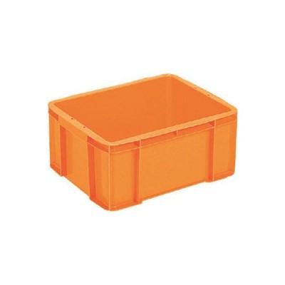 三甲(株) サンコー ボックス型コンテナー サンボックス#28ー2 オレンジ SK-28-2-OR 1個【342-3841】