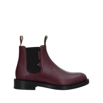 LANVIN ショートブーツ  メンズファッション  メンズシューズ、紳士靴  ブーツ  その他ブーツ ボルドー