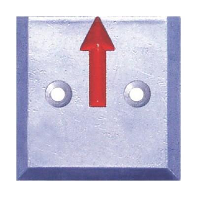 STS 境界用標示板(2穴・貼付用)SH−15 SH−15−2 1袋(10枚) (メーカー直送)