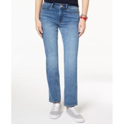 トミー ヒルフィガー レディース デニムパンツ ボトムス Straight-Leg Jeans Enc Wash