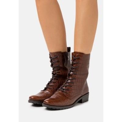 カプリス レディース ブーツ&レインブーツ シューズ BOOTS - Lace-up ankle boots - cognac cognac