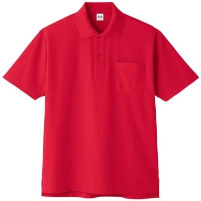 コーコス 超消臭半袖ポロシャツ レッド LL ※取寄品 A-137