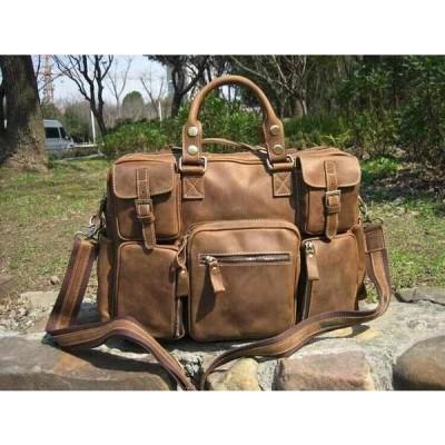 バッグ メンズ Genuine Leather Men's shoulder bag Messenger Satchel Briefcases Handbag AJ38