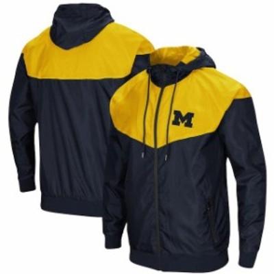 Colosseum コロセウム スポーツ用品  Colosseum Michigan Wolverines Navy Gallivanting Full-Zip Wind Jacket