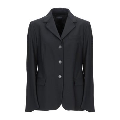 ピアッツァ センピオーネ PIAZZA SEMPIONE テーラードジャケット ブラック 48 バージンウール 96% / ポリウレタン 4% テー