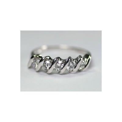 【オーダー商品】K18ホワイトゴールド ダイヤモンド リング ダイヤモンド0.62ct【送料無料】