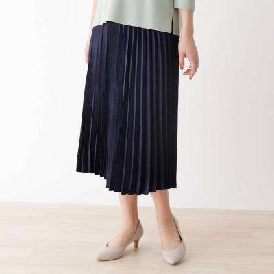 シューラルー SHOO-LA-RUE キラキラプリーツスカート (ネイビー)