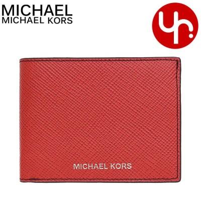 マイケルコース MICHAEL KORS 財布 二つ折り財布 36U9LHRF5L クリムゾン ハリソン レザー スリム ビルフォールド ウォレット アウトレット メンズ